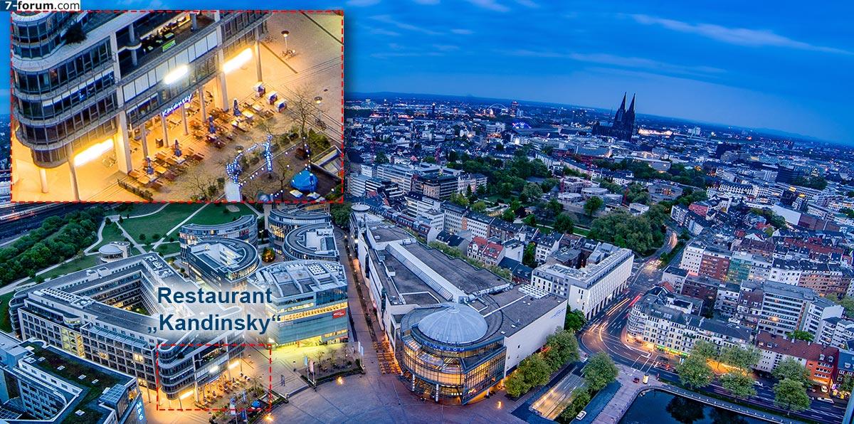 Kandinsky Restaurant im MediaPark Köln, Luftbild