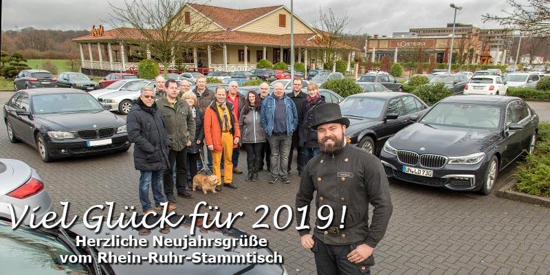 Rhein-Ruhr-Stammtisch im Januar 2019: Forums-Schornsteinfeger Alain ('Alien') brachte Glück nach Castrop-Rauxel