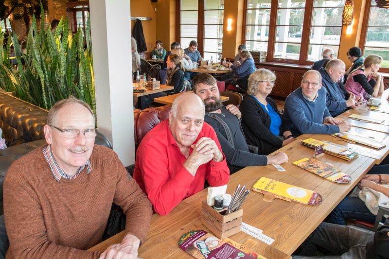 Rhein-Ruhr-Stammtisch im Januar 2019: Stammtischrunde im Café del Sol in Castrop-Rauxel