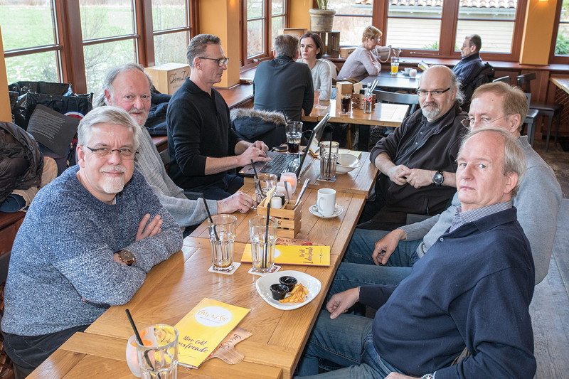 Rhein-Ruhr-Stammtisch im Februar 2019, Stammtisch-Runde im Café del Sol in Castrop-Rauxel