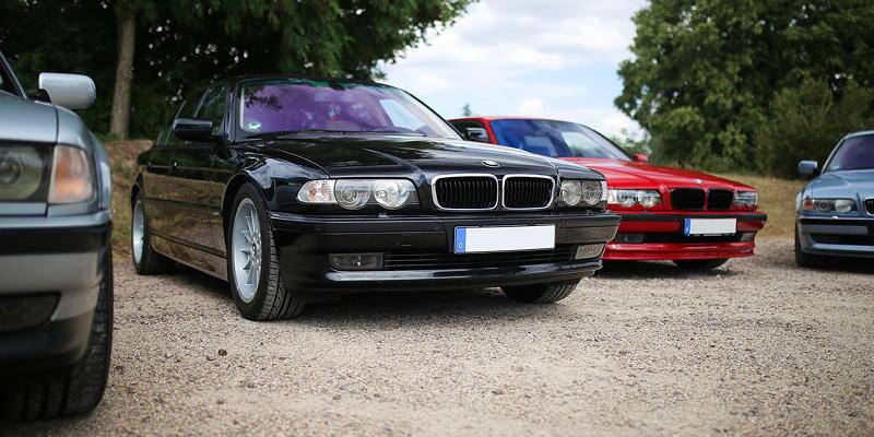 BMW 7er Stammtisch Halle-Leipzig im Juli 2020: BMW 740i (E38, Bj. 05/2000) von Waldemar ('Waldi-740i') - in erstklassigem Zustand