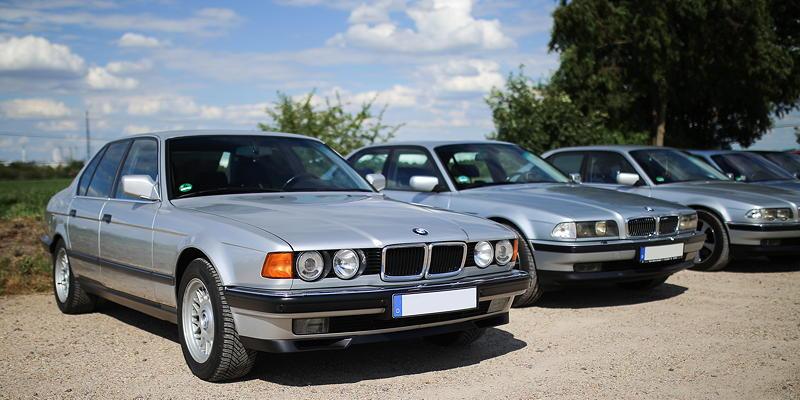 BMW 7er Stammtisch Halle-Leipzig im Juli 2020: BMW 740i (E32) in Bestzustand, mit Volllederausstattung von Alex ('sensiminded')