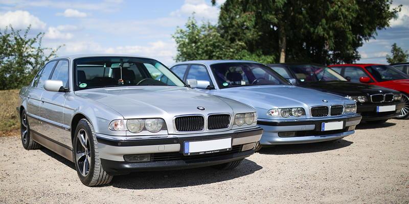 BMW 7er Stammtisch Halle-Leipzig im Juli 2020: BMW 735i (E38) von Marko ('Old School')