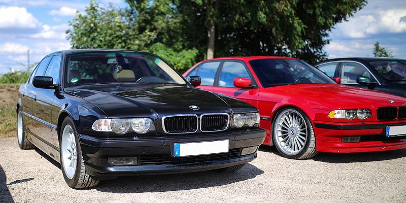 BMW 7er Stammtisch Halle-Leipzig im Juli 2020: BMW 740i (E38) von Waldemar ('Waldi-740i')
