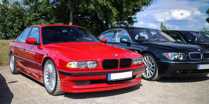 BMW 7er Stammtisch Halle-Leipzig im Jul 2020: BMW 750i in BMW Individual Imolarot von Frank ('750imolarot')