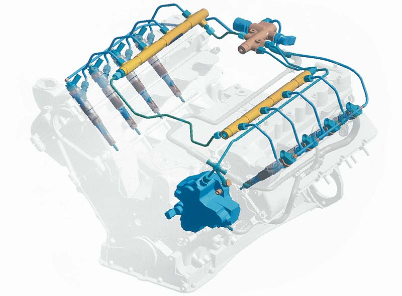 Foto Bmw V8 Dieselmotor Common Rail Einspritzsystem