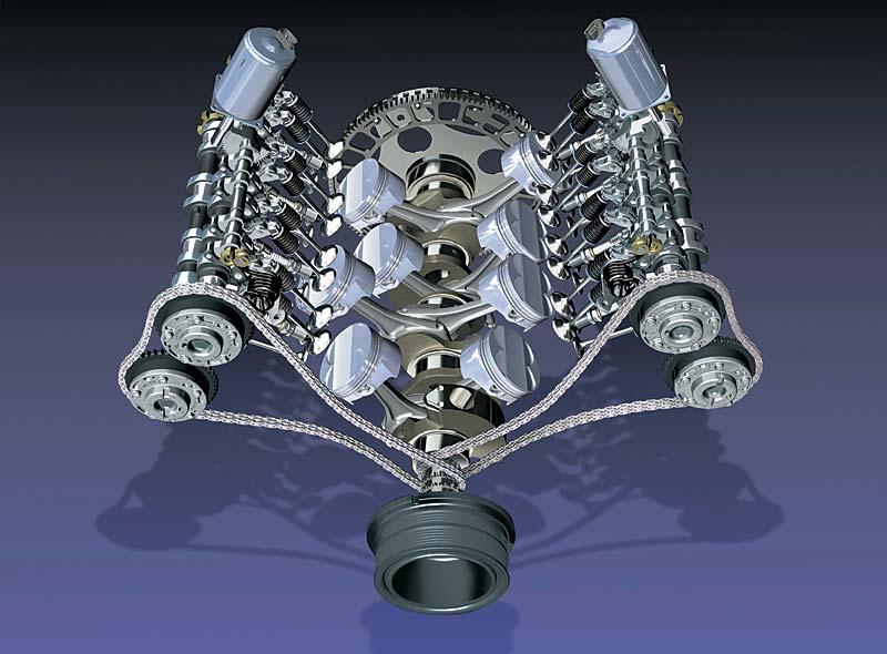 Foto: V8-Motor (735i / 745i) mit Valvetronic (vergrößert)