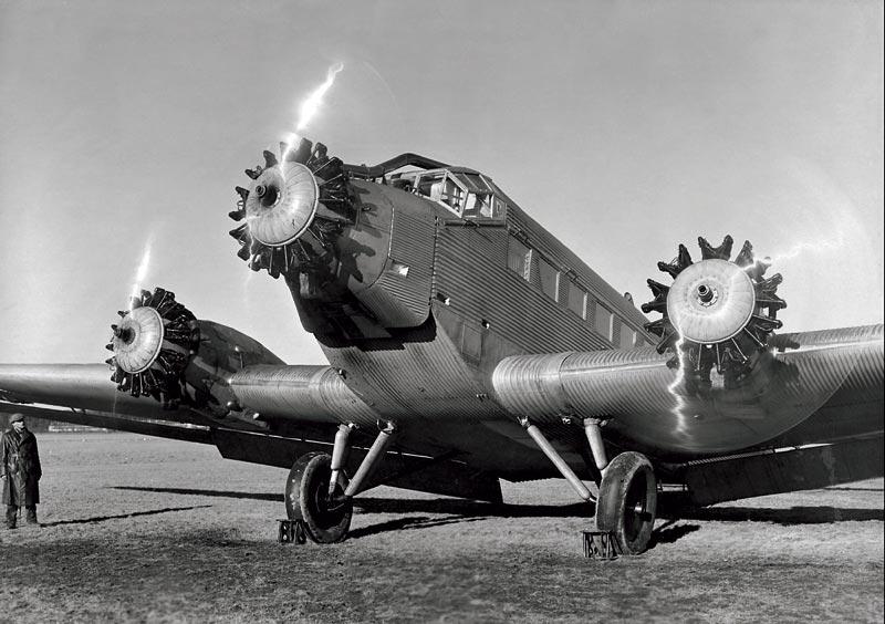 Foto Junkers Ju 52 Mit 3 Bmw Sternmotoren 1930 Vergr 246 223 Ert