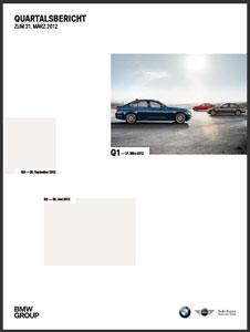 Bmw Group Fährt Rekordwerte Im Ersten Quartal 2012 Ein