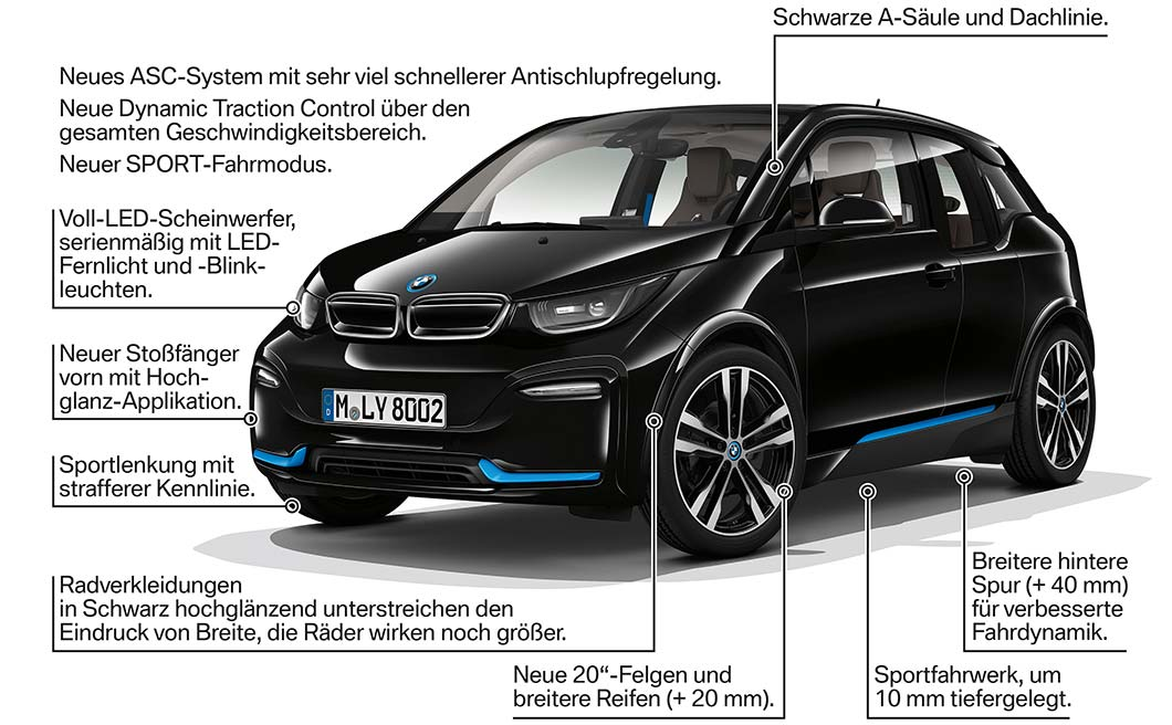 der neue bmw i3 der neue bmw i3s facelift 2017 highlights. Black Bedroom Furniture Sets. Home Design Ideas