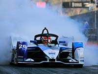 Formel E Start startet: BMW i Andretti Motorsport vor dem Diriyah E-Prix.