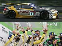 Podium zum Abschied des BMW M6 GT3: Vorjahressieger ROWE Racing fährt auf den zweiten Platz.