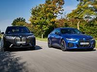 Bessere KFZ-Versicherungskonditionen für BMW iX und BMW i4.