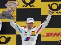 Podest-Premiere beim Heimspiel: BMW Fahrer Marco Wittmann erringt auf dem Norisring den 3. Platz.