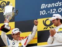 Podesterfolg für BMW Motorsport bei der DTM-Rückkehr nach Brands Hatch.