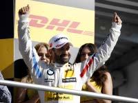 Timo Glock fährt für BMW im vorletzten DTM-Rennen des Jahres in Hockenheim als Dritter auf das Podium.