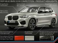 Der neue BMW X3 M und BMW X3 M Competition. Der neue BMW X4 M und BMW X4 M Competition. Highlights.