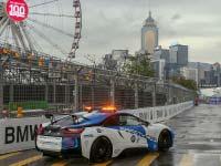Turbulentes Rennen unter schwierigen Bedingungen: Félix da Costa punktet im Regen von Hongkong.
