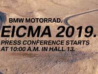 BMW Motorrad mit neuem Messeauftritt auf der EICMA 2019.