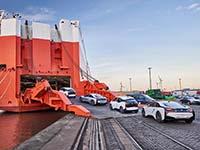 BMW Group treibt emissionsarme Transportlogistik voran.
