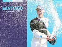 Maximilian Günther feiert beim Santiago E-Prix den ersten Sieg seiner Formel-E-Karriere.