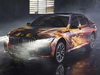 BMW Pop-Up Store zeigt in Brasilien BMW 7er Hybrid als Artcar von Gabriel Wickbold