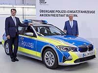 BMW 3er Touring als Polizei Einsatzwagen in Bayern